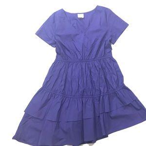 HD in Paris Ruffle Tiered Dress Asymmetrical Hem